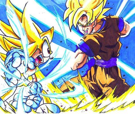 imagenes de goku roblox super sonic vs ssj goku sonic the hedgehog know your meme
