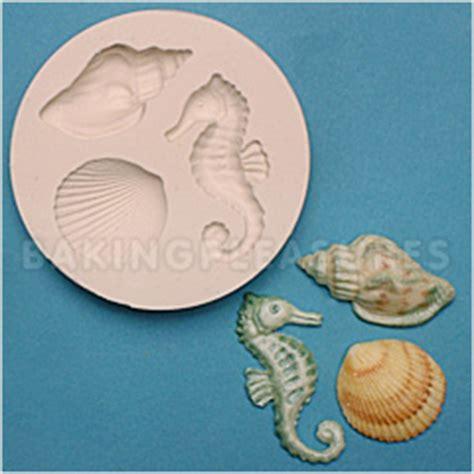 seahorse rubber st fpc sugarcraft seahorse shells silicone mould