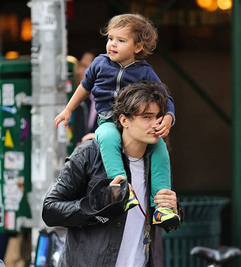 orlando bloom baby the husband the wife the baby and the shoes