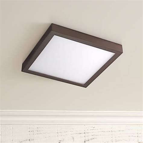Disk 8 Quot Wide Bronze Square Led Indoor Outdoor Ceiling