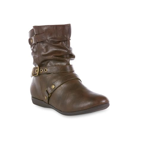 sears womens ankle boots simply styled s ankle boot brown shop