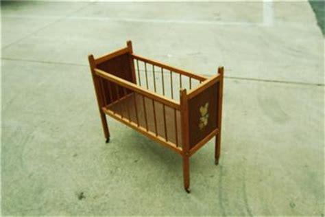Baby Crib With Wheels Vintage Wood Infant Baby Doll Crib Bed Play Pen Wheels Ebay