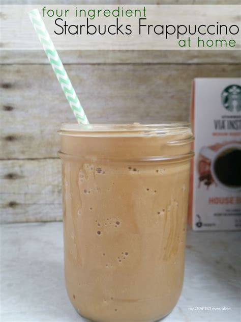 four ingredient starbucks frappuccino my craftily after