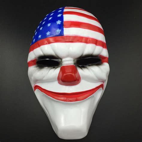 Topeng Dallas Payday Hardresin new payday 2 dallas mask heist joker costume props mask fancy dress ebay