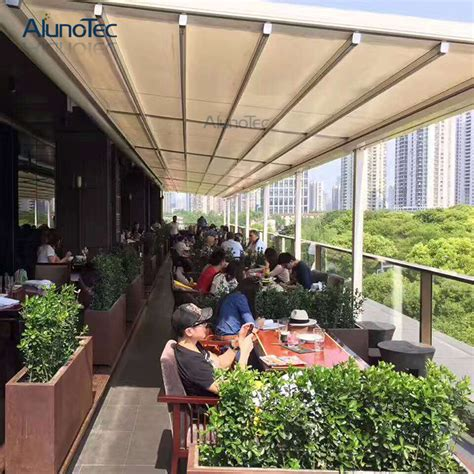 buy retractable awning retractable canvas pergola with retracted fabric roof buy