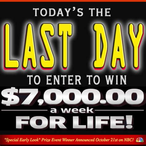 Set For Life Pch - today s the final deadline to enter to be set for life pch blog