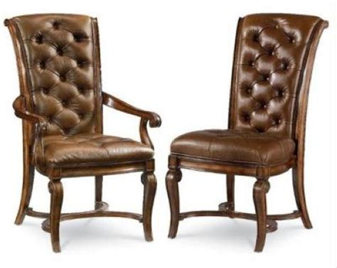 Thomasville Leather Dining Room Chairs Thomasville Furniture Deschanel Leather Chairs Henredon