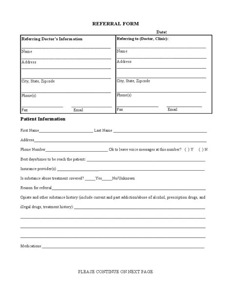 doctor referral form template referral form form templates