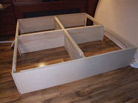 easy instructions to build a king size storage platform bed crafts and projects pinterest