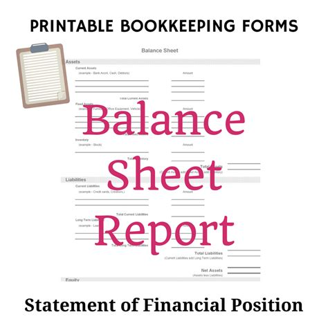 study notes on balance sheet meaning components and requirements