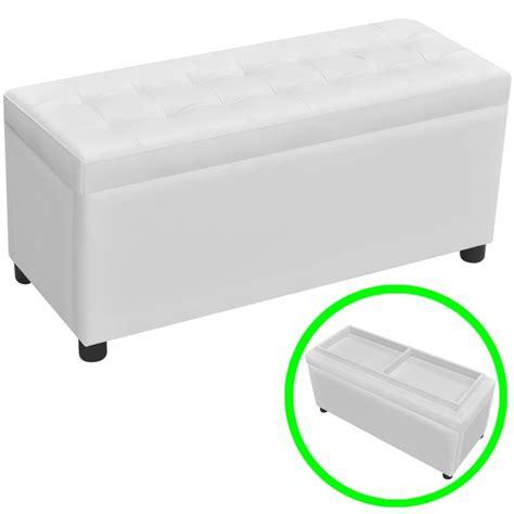 cassapanca con seduta cassapanca in pelle artificiale bianco con seduta