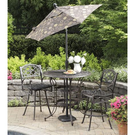 3 Pc Patio Set by 3 Pc Biscayne Outdoor Bistro Set 224975 Patio