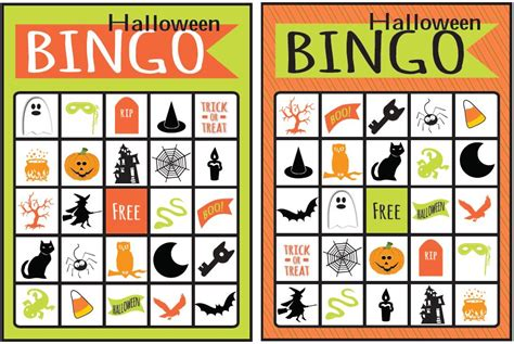 printable halloween bingo cards with pictures image gallery halloween bingo cards
