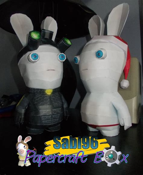splinter cell and rabbid papercraft by sabi996