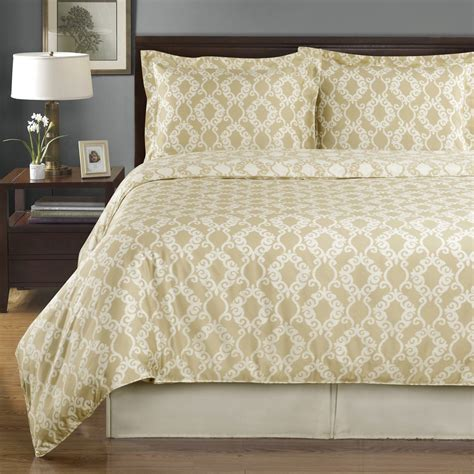 Sierra Beige And Ivory Reversible Twin Xl Cotton Comforter