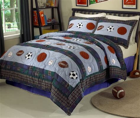 All State 3pc Quilt Bed Set Boys Sports Football Comforter Ebay Sports Bedding Sets Myideasbedroom