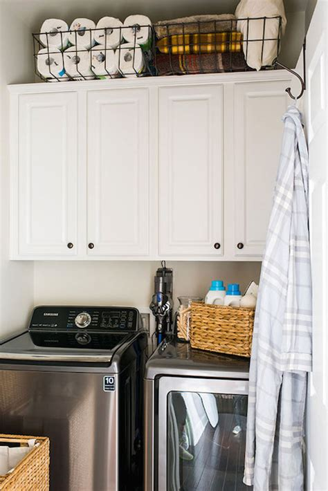 cabinets above washer dryer by washer and dryer design ideas