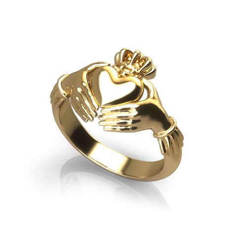 gold claddagh ring jewelry designs