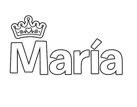 imagenes para colorear y escribir el nombre dibujo de nombre maria para colorear dibujos net