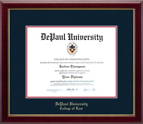 Depaul Help Desk depaul gold embossed diploma frame in gallery