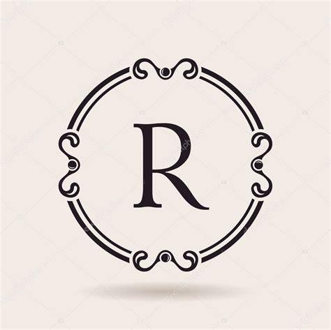 vector logo frame design templates vintage label letter