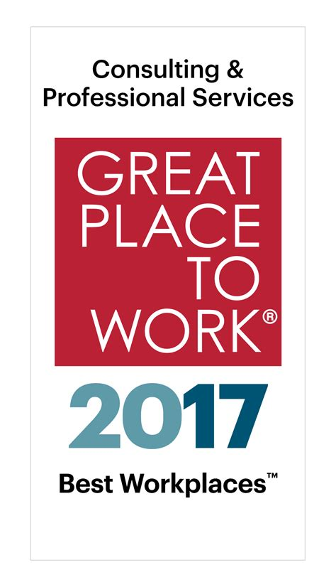 best place to work best workplaces in consulting professional services 2017
