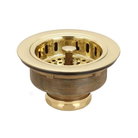 brass sink strainer basket blanco decorative basket strainer in biscuit 441092 the