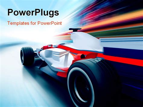 powerpoint templates free download racing driving at high speed in empty road motion blur