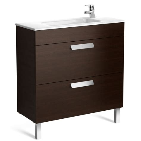 Roca Sink Unit by Roca Debba Compact 2 Drawer Vanity Unit With Basin Uk
