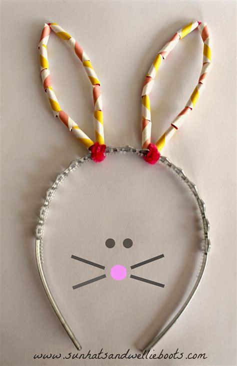 diy bunny ears sun hats wellie boots diy easter bunny ears with