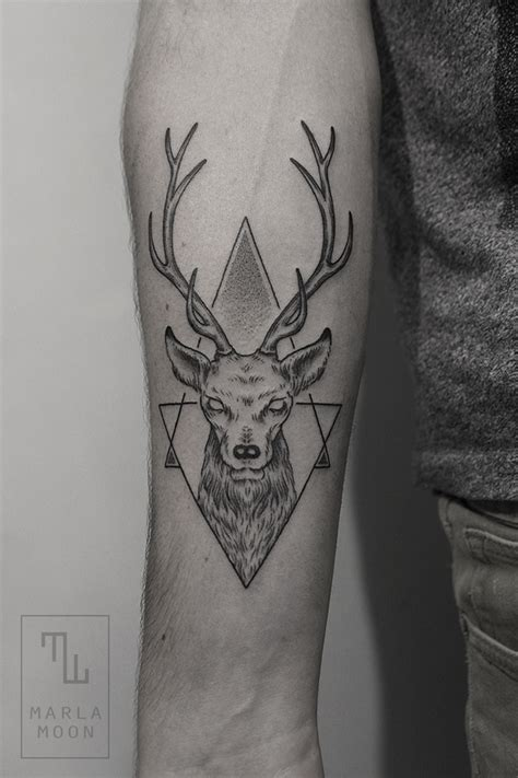 geometric animal tattoo beautiful tattoos by marla moon blend subjects
