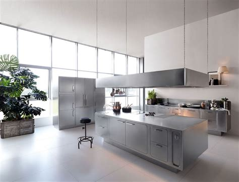 Stainless Steel Kitchen Design By Abimis Interiorzine Stainless Steel Kitchen Designs