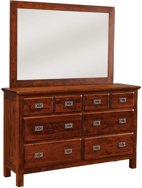 Daniel S Amish Bedroom Furniture Lewiston 8 Drawer Dresser W Wide Mirror By Daniel S Amish Collection House Of