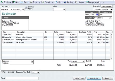 bill estimate template quickbooks tip adding project information to invoices