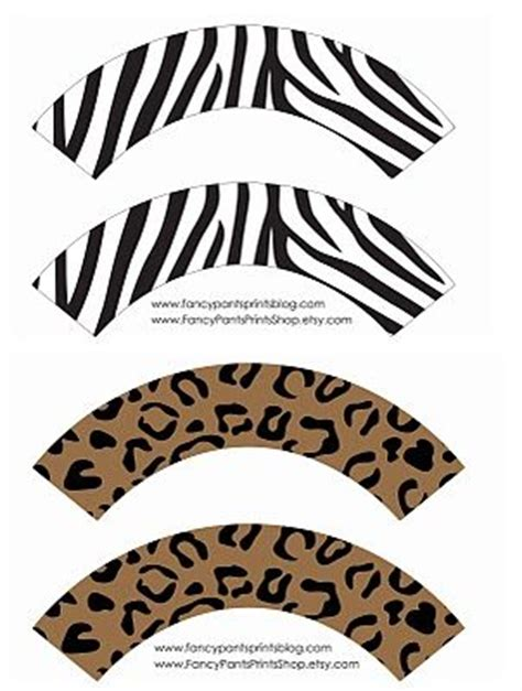 printable zebra cupcake wrappers pinterest the world s catalog of ideas