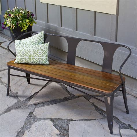 steel bench frame jardin outdoor steel frame bench