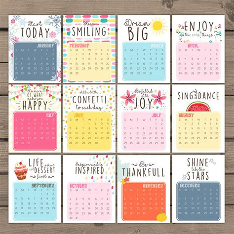printable calendar quotes 50 absolutely beautiful 2016 calendar designs hongkiat