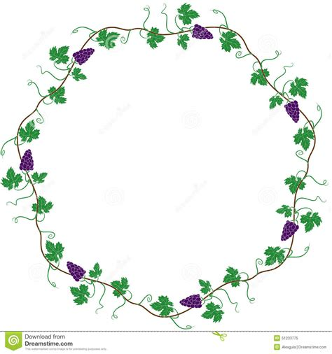 round frame of the vine stock illustration image 51233775