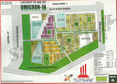 layout plan greater noida layout plan of omicron 1a greater noida hd map
