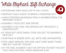 white elephant gift exchange printable bing