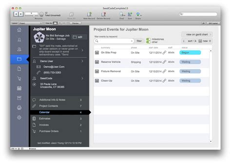 Seedcode Complete Filemaker Template Filemaker Pro Records Template