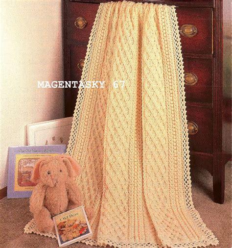 vintage afghan pattern afghan blanket throw aran style crochet pattern vintage