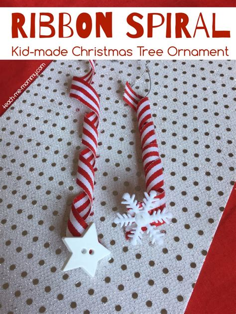 how to string ribbon on a tree ribbon spiral tree ornament teach me
