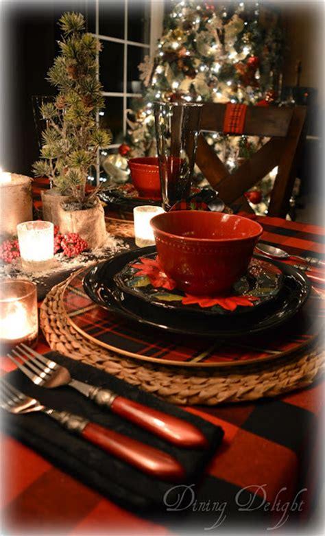black and red christmas tablescapes dining delight canadian lodge inspired tablescape