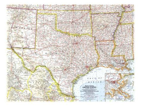 south central united states map 1961 south central united states map print allposters co uk
