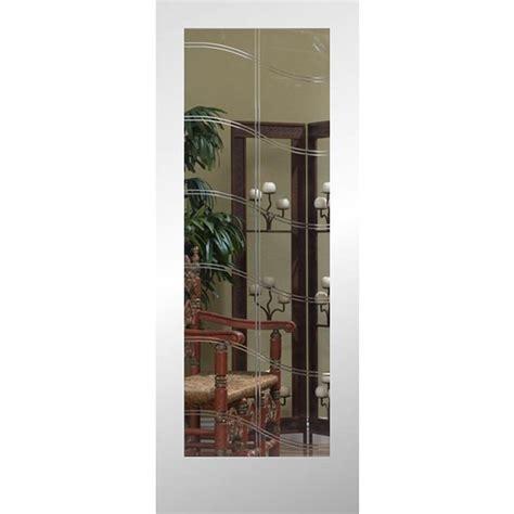 Interior Slab Door With Glass Shop Reliabilt Primed Solid Etched Glass Slab Interior Door Common 24 In X 80 In Actual