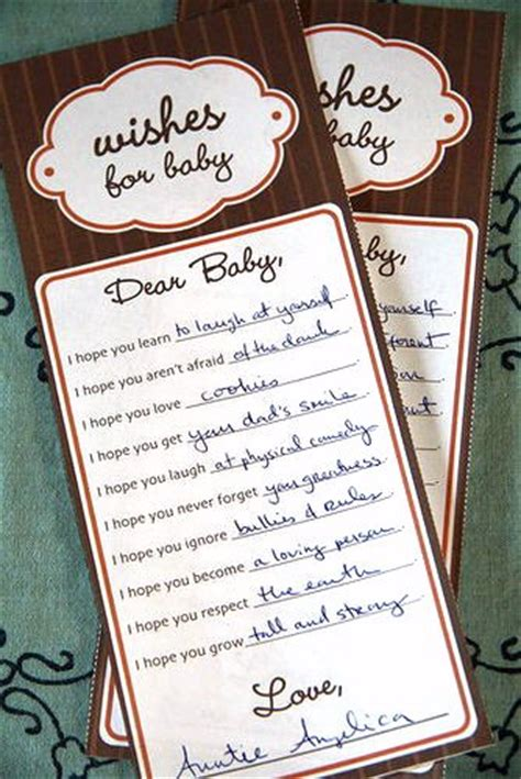baby shower wish cards template heirloom baby shower and activities popsugar