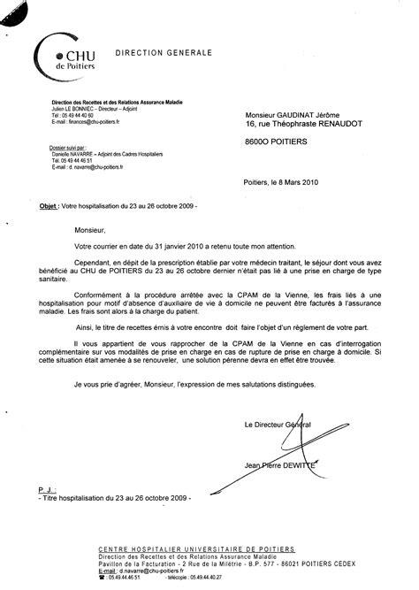 lettre au directeur exemple entete lettre forestier
