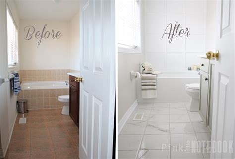 painting bathroom tiles before and after yes you really can paint tiles rust oleum tile