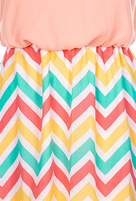 Chevron E Gift Card - dress candy house whimsy multicolor chevron contrast high low dress sincerely